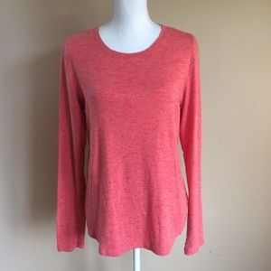 Eddie Bauer   Coral Long Sleeve Pullover Top L